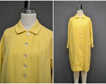 1960s Capri Yellow Wool Coat
