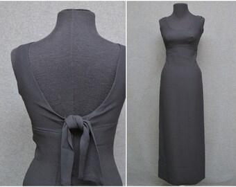 1960s Ann Barry Jr. Black Column Dress