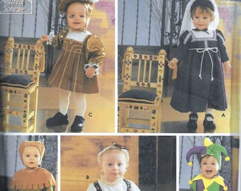 Simplicity 5517 Toddler Childrens Renaissance Costume & Hat Sewing Pattern Size 1/2, 1, 2, 3 and 4 UNCUT Medieval SCA
