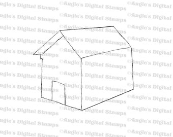 Dog House Digital Stamp Image