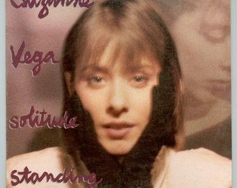 Suzanne Vega, Solitude Standing 1987 Her Second LP, Vintage Vinyl Record Album A & M  LP SP - 5136 Tom's Diner, Luka