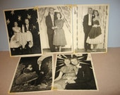 """Vintage High School Dance Prom Black & White Pictures 5"""" x 7"""" Scrapbooking Decoupage Material"""