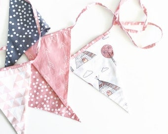 Bunting flags- little teepee pink