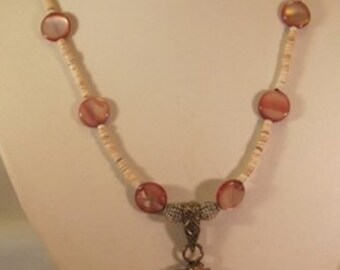 Pink Rhodonite Pendant Necklace