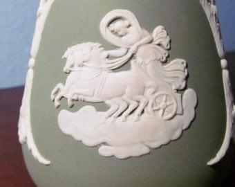 Vintage Wedgewood Green Jasperware Vase