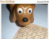 Brown Ceramic Dachshund Handpainted Jewelry Holder Dog Lover Adopt A Dog Rescue Dog Short Leg Long Body