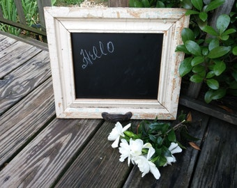 Chalkboard Cracking Paint Primitive Kitchen Country Kitchen White Decor Wedding Gift Primitive Frame