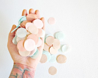 Custom Wedding Confetti, Biodegradable Confetti Toss, Confetti Balloon,Party Decoration, Table Decor, Bachelorette Party, Blush Rose Neutral