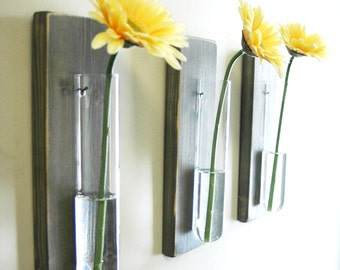 Modern Kitchen Wall Decor farmhouse style glass bottle trio farmhouse style wall decor