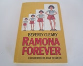 Ramona Forever by Beverly Cleary Children's Young Adult Classic Book 1984