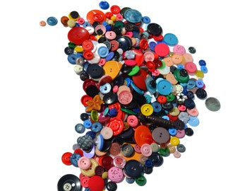 515 Vintage BUTTONS, Huge Lot of Colorful Antique Buttons Lot