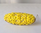 Vintage Celluloid Brooch Bright Yellow Flowers Pin Hand Tied Celluloid Flowers Vintage Jewelry circa 1930s Gift For Mom