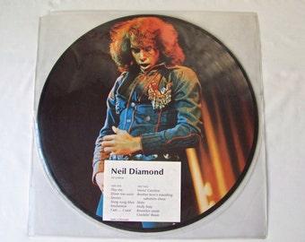 Vintage Neil Diamond Vinyl Record Album Vinyl Picture Disc LP RARE Hot August Nights 1974
