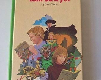 Vintage Tom Sawyer By Mark Twain Children's Classic Library 1979