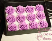 A Dozen Lavender Roses - Valentine's Day Special Thumbtacks Perfect For Gifts, Bridesmaids, Shower Favor, Teachers, Housewarming