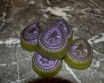 5 Pack Soap Gift Pack~ All Natural Soap~ Artisan Soap~ Handmade~Vegan Soap~ HEALING Soap Cucumber Melon~