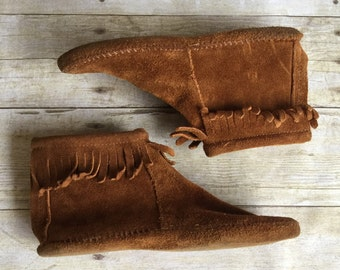 Vintage Moccasins Leather Booties Woman's Size 6/7