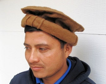 Pashtun Rebel Hat from Afghanistan in Brown