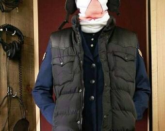 RebelXXXIII black embroidered down vest