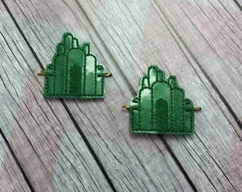 Emerald Castle Bobby Pin Hair Accessory, Oz inspired, emerald city inspired