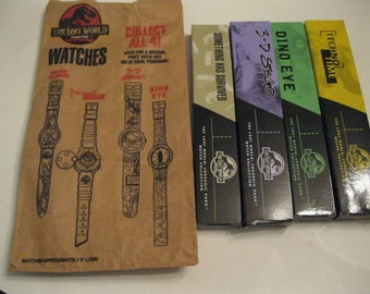 Fun For All Ages Jurassic Park The Lost World & Burger King Collectible Wrist Watch NIB Complete Four Box Set Wardrobe Accessory Collection