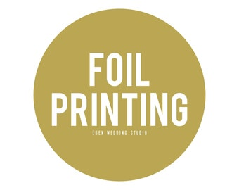 Add Foil Printing To Your Eden Wedding Studio Printed Invitations