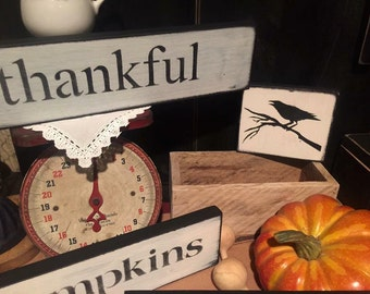 Farmhouse style signs- lots of choices Thankful, Coffee, Harvest, pumpkins