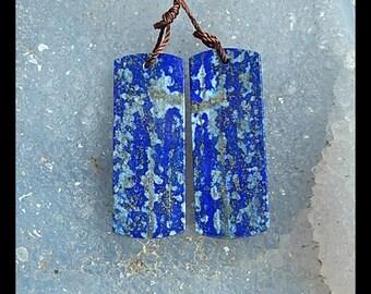 SALE,Lapis Lazuli Gemstone Earring,34x13x3mm,8.27g