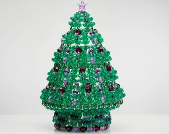 Fig - Handcrafted Beaded Christmas Tree with Lights