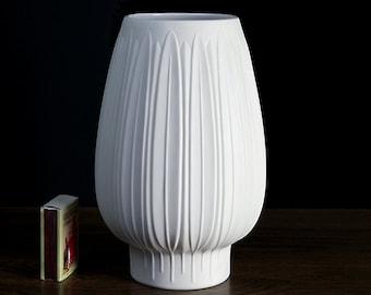 Op Art Relief Vase Germany Heinrich Art Porcelain Nature Inspired Form Design 60s