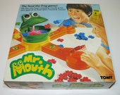 MR. MOUTH Game - Feed The Frog - 1987 - Chip Flip Game - Complete & Working