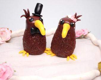 Kiwi Cake Topper Wedding Decoration Wedding Cake Bride and Groom