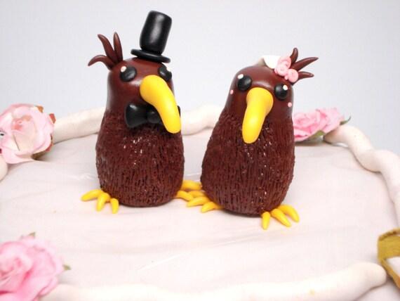 Kiwi cake topper wedding decoration wedding cake bride and for Decoration kiwi