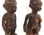 Yoruba Twin Figures Pair Ibeji Nigeria African Art 87601 SALE WAS 290