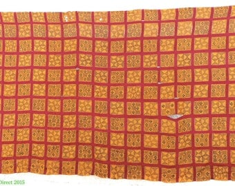 Adinkra Stamped Cloth Asante Ghana Large 10 x 6 Feet African Art 92781