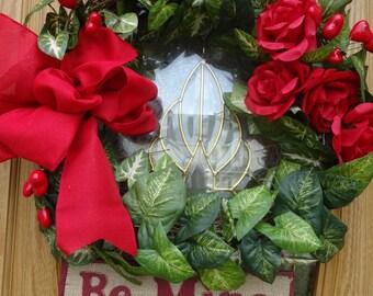 Be My Valentine Wreath   Valentine Wreath    Happy Valentines Day   Vlaentine Gift  Rustic Wreath  Door Wreath For Valentines Day