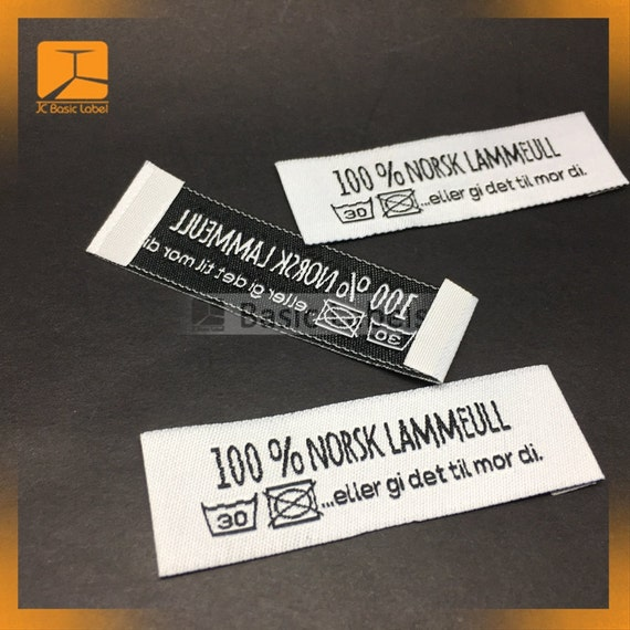 100 sewing labels clothing labels woven labels iron on for Iron on shirt labels