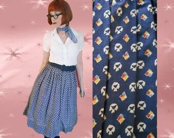 1950s Rockabilly Skirt - Vintage Full Skirt - 50s Rock n Roll