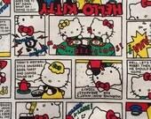 Comic Hello kitty fabric half yard