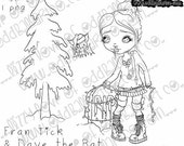 INSTANT DOWNLOAD Creepy Cute Christmas ~ Fran Tick & Dave the Bat Prepare For Holiday No.273 (A and B) by Lizzy Love