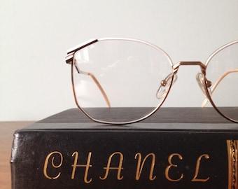 Vintage Black and White Oversized Eyeglass Frames, Artisan 54/15, 135