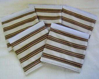 LUGGAGE HANDLE Wraps Luggage Identifier Tag Stripes Brown Green Tan Burgundy One (1) Each