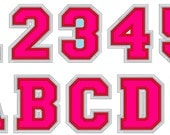 Double layer applique Athletic Sport collegiate  embroidery applique font alphabet, many sizes - BX and other embroidery formats