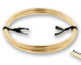14Kt Gold Filled 26gauge Half Hard Round Wire - 5ozt SPOOL (2191) NEW low Wholesale Price - Made in USA