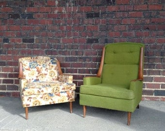 Mid-Century Modern His & Her Chairs
