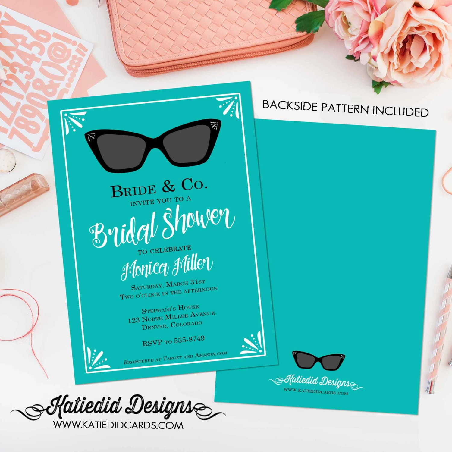 bridal shower invitation bachelorette hen party wedding invite ...