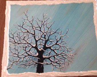 Snowy tree - landscape
