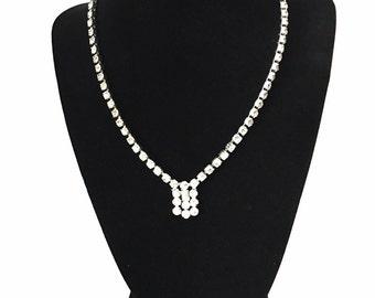 50's Vintage Rhinestone Necklace