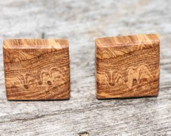 Wooden cufflinks oak