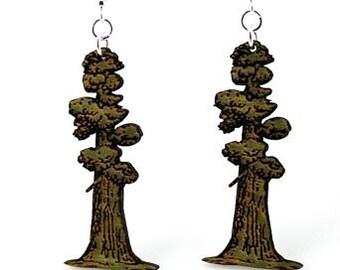 Big Tree Red woods - Wood Earrings